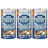 Bar Keeper's Friend Cookware Cleanser & Polish, 12 oz (3-Pack)