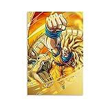 Goku Ssj3 Drachen Faust Poster Dekorative Malerei Leinwand