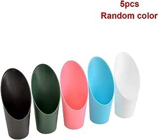 Soil Shovel 5Pcs Bonsai Cylinder Scoop Hand Potting Cup Bucket Rake Plastic Planting Spade Mini Garden Tool RFID Blocking(SRandom Color)