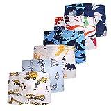 Taxzode Toddler Boy's Briefs Underwear H-6 Pcs-assorted 5-6 Years