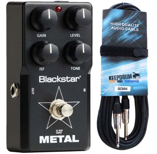 Black Star LT de metal efecto pedal F. S de guitarra Keepdrum Guitarra Cable 6m gratis.