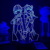 カタ3DランプBAKUGO寝室の装飾誕生日プレゼントマンガガジェットマイヒーローアカデミア桂の焼き焼きアニメ光イリュージョンナイトライトRGB調色 常夜灯 かわいい 雰囲気作り 16色 子供の部屋の装飾ホリデーライト 人気 アニメ -接する