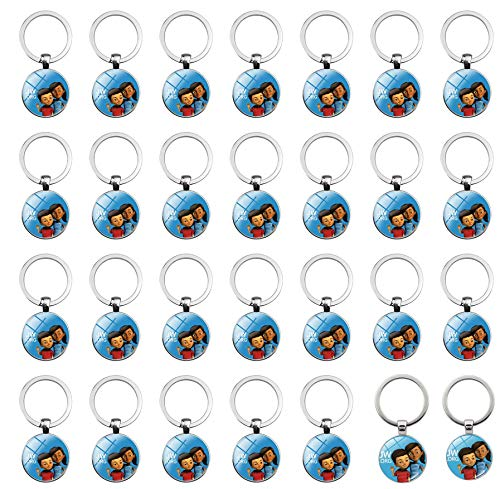 PHAETON 26PCS JW.ORG Caleb and Sophia Key Chain Jehovah Witness Key Ring Key Holder Jehovah's Witnesses Accessory Become Jehovah's Friends-Kids