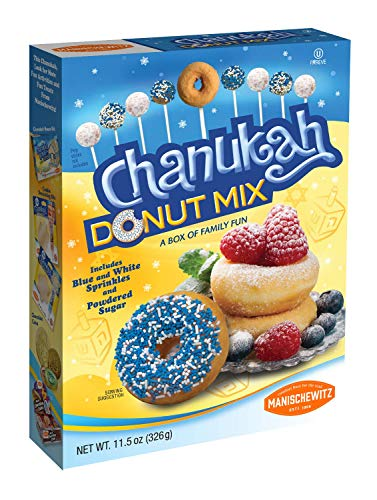 Hanukkah Donut Mix, - Hanukkah Doughnut Mix - Includes Blue and White Sprinkles and Powdered Sugar