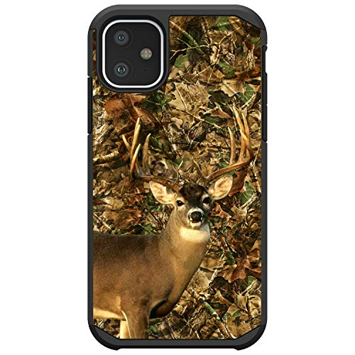 MINITURTLE Compatible with Apple iPhone 11 (6.1) Slim Fitted Dual Layer Protective Case - Deer Hunting Camo