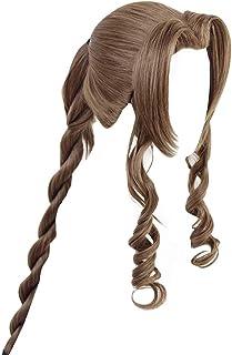 Yejue Final Fantasy VII Aerith Gainsborough Tifa Lockhart Cosplay Wig Girl Brown Long Hairpiece 100 cm Hairpiece