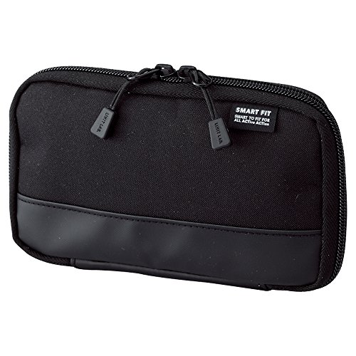 "LIHITLAB Compact Pen Case (Pencil Case), Water & Stain Repellent,3.5"" x 6.5'', Black (A7687-24)"