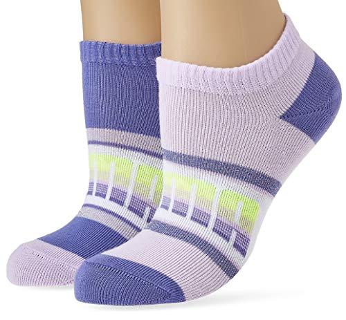 PUMA Kids' Seasonal Sneaker-Trainer Girls Socks (2 Pack) Calcetines, purple combo, 27/30...