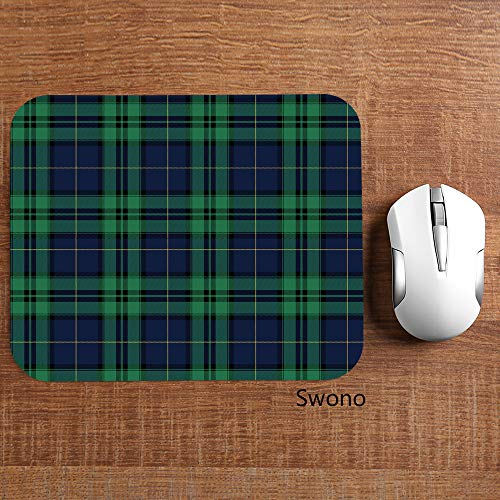"""Swono Green Tartan Mouse Pads Tartan Black Watch Plaid Bias Christmas Shirting Traditional Mouse Pad for Laptop Funny Non-Slip Gaming Mouse Pad for Office Home Travel Mouse Mat 7.9""""X9.5"""" Photo #5"""