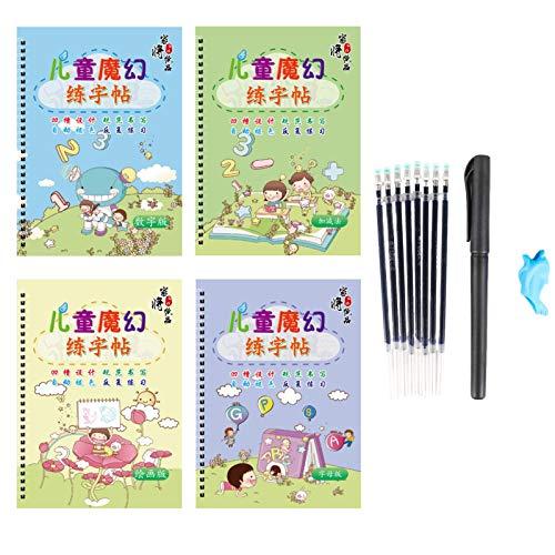 Tongy&acheng Sank Magic Practice Copybook, Nummernverfolgungsbuch Für Kinder Im Vorschulalter Mit Stift, Magic Calligraphy, Das Wiederverwendet Werden Kann