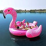 Verano Nueva Isla De Pvc Fila Gigante De Unicornio Flotante Juguetes Inflables, Flamingo Pavo Real Cama Super Grande Juguetes De Agua, Ideal Para 6 Personas -410 * 430 * 270 Cm