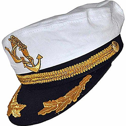 R-dessous casquette de capitaine avec ancre