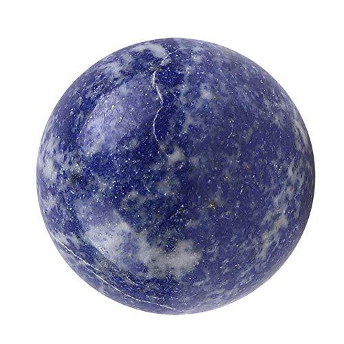 Festnight 40mm natuurlijke lapis lazuli kristallen kogel handmassage bal helende steen Home Office ornament