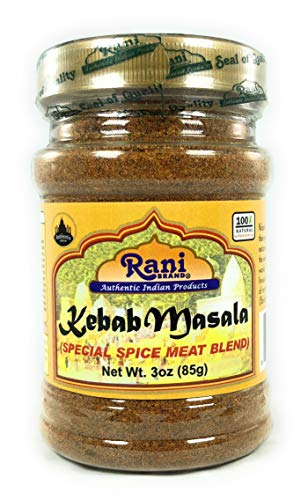 Rani Kebab Masala Indian Spice Blend for Meat Dishes 3oz (85g) ~ All Natural, Salt-Free   Vegan   No Colors   Gluten Friendly   NON-GMO   Indian Origin