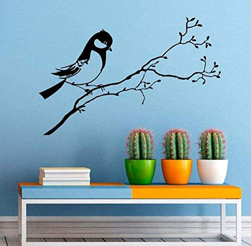 Vogel auf dem Ast Wandaufkleber Herde von Vögeln Baum Aufkleber Vinyl Home Animal Decor Innendekoration Wandkunst Haushaltswaren Schlafzimmer 65 * 42 cm
