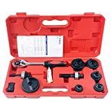 ITOOLY Manual Knockout Hole Punch Driver Kit 1/2 to 2 inch Electrical Conduit Hole Cutter Set KO Tool Kit,Don't Use for Stainless Steel Plate