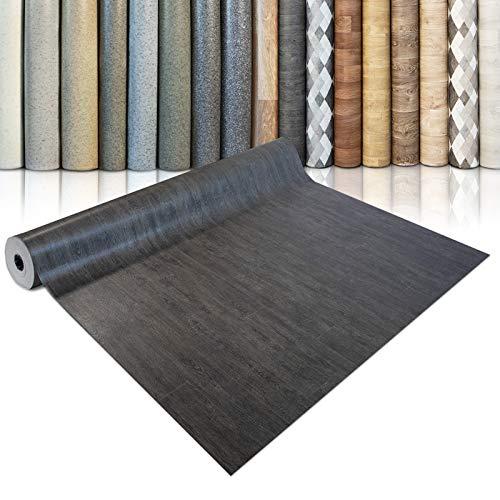 CV Bodenbelag Vancouver - extra abriebfester PVC Bodenbelag (geschäumt) - Eiche Vintage Dunkel - edle Holzoptik - Oberfläche strukturiert - Meterware (200x150 cm)