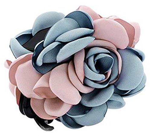 Fleurs/cheveux Barrette pince à cheveux pour les femmes/Lady/Girls Hair Ornament, Bleu et rose # 21