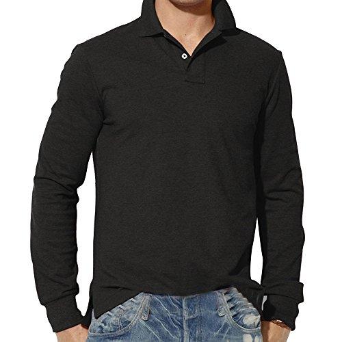 LILICAT Herren Jumper Shirt Einfarbig Oberteile Revers Hemdbluse Kent-Kragen Bluse Herbst Strickshirts V-Ausschnitt Sweater Knopf Leinenhemd Dünne Figurbetonte Tops Kleidung