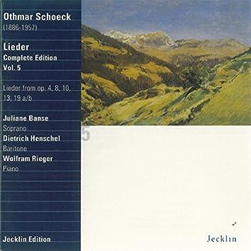 Othmar Schoeck: Lieder - Complete Edition, Vol. 5