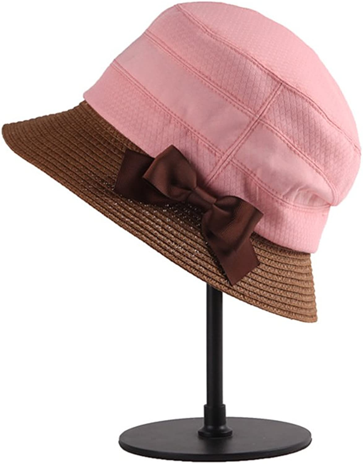 Summer Hat Female Outdoor Shade Sun Predection UV Grass Cloth Combined with High-Grade Sun Hat