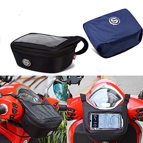 Motorcycle Handlebar Bag Fuel Tank Bag Windscreen Bag Mobile Phone Touch Screen Earphone Bag Compatible with Vespa GTS 300 150 Yamaha TMAX 560 530 XMAX300 Honda PCX X-ADV
