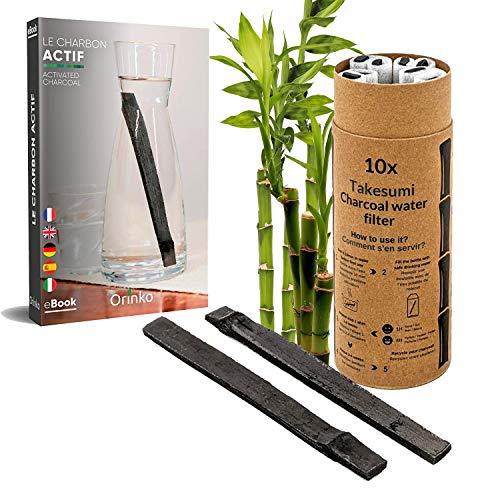 Binchotan Bio 10x | Charbon Actif Takesumi de Bambou pour Purification d'eau + E-Book | Passez-Vous des Eaux en Bouteille avec Notre Charbon Actif [𝗦𝗮𝘁𝗶𝘀𝗳𝗮𝗶𝘁 𝗼𝘂 𝗥𝗲𝗺𝗯𝗼𝘂𝗿𝘀𝗲]