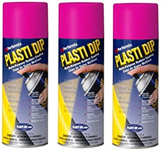3 Pack - Performix Plasti Dip Spray Can - Fierce Pink 11 Ounce