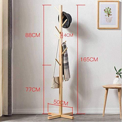 YLCJ Perchero de Madera Maciza, Diseño Simple Aterrizaje Percha para Colgar la Ropa Entrada Entrada con Forma de árbol Expositor Sombrero-Madera