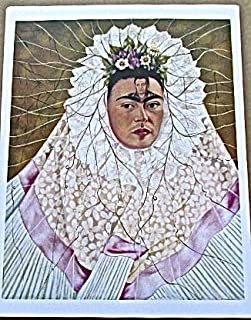 Frida Kahlo Diego in My Thoughts 13x10 Offset Lithograph