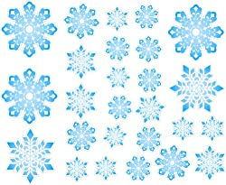 Repositionable Snowflakes Wall Decor