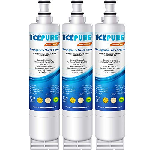 ICEPURE 4396508 Replacement for Whirlpool 4396510, EDR5RXD1, Filter 5, 4396547, 4392857, 4396918, WF285, SGF-W80, NL240V, RWF0500A, 3PACK