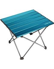 Trekology tragbarer Camping-Tisch mit Aluminium-Tischplatte, zusammenklappbar, mit Tasche, für Picknick, Camping, Strand, praktisch zum Essen, Schneiden, Kochen, leicht zu reinigen, braun, Small