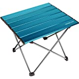 Trekology Portable Camping Side Tables with Aluminum Table Top: Hard-Topped Folding Table in a…