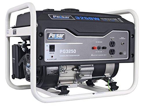 Pulsar 3,250W Portable Gas-Powered Generator, PG3250