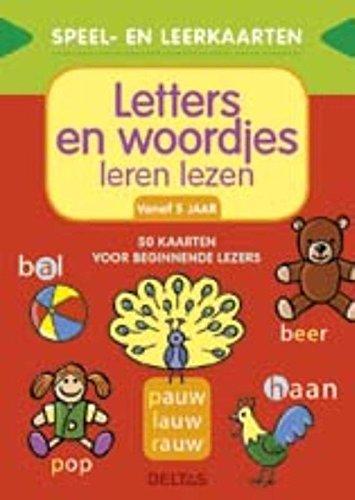 Speel- en leerkaarten - Letters en woordjes leren lezen (+5 j.): 50 kaarten voor beginnende lezers