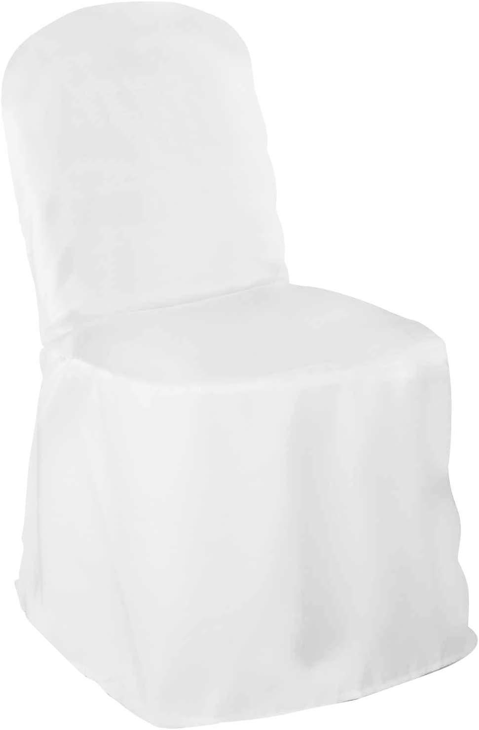 Lann's Cheap bargain Linens. - 10 Wedding Chair Covers sale Polyest Banquet White