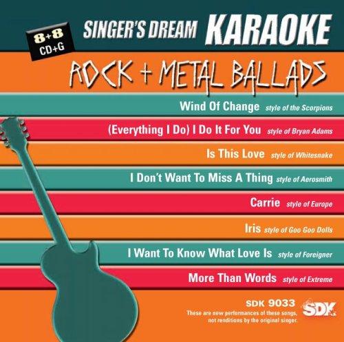 Singer's Dream Karaoke: Rock & Metal Ballads