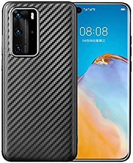 Huawei P40 Pro Case Cover Carbon Fiber Design TPU Black Soft Slim Flexible Shock Absorbent Protective Case Cover for Huawe...