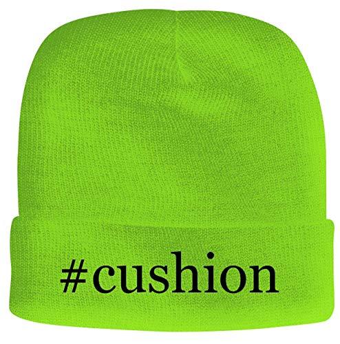 BH Cool Designs #Cushion - Men's Hashtag Soft & Comfortable Beanie Hat Cap, Neon Green, One Size