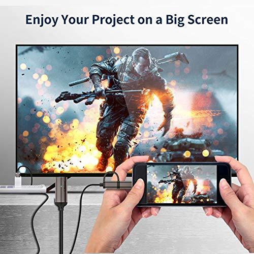 MPIO USB C auf HDMI Kabel f¡§1r Android Telefon/Tablet zu TV/Projektor/Monitor, 2-in-1 Mirco/MHL adapter HDTV 1080P-Digital-AV-Adapterkabel f¡§1r alle Android-Telefone (Support Neflix), 2M/6,6 Fu?