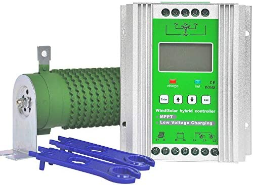 Pikasola 1400W 12 24v Battery Off Grid Controller Wind Turbine Solar Hybrid MPPT Charge Boost product image