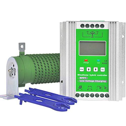 Pikasola 1400 W 12/24 V Akku Off Grid Controller Windturbine Solar Hybrid MPPT Laderegler mit Entlader, geeignet für 800 W Windgenerator 600 W Solarpanel-Systemsteuerung