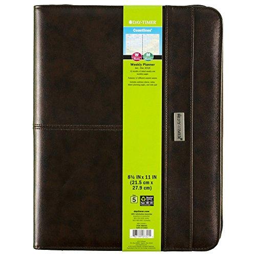 DayTimer Coastlines Weekly Organizer Notebook for 2016, 8.5 x 11 Inches, Brown (884641601)