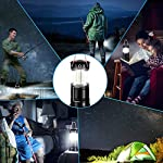 Akmona camping lantern, 4 pack with 16 batteries high lumens led lanterns battery powered, suitable for hurricane… 12 super bright & large area brightness. 360-degree covered lighting with top spotlight provides high visibility to meet large area brightness. 4 lighting modes. Collapsible cob led lantern. Flashlight. Red warning light(strobe & sos light). The lantern is a vital filed survival tool and camping accessories. Long last run time. Using 3*aa batteries (included) as power supply enables it can be continuously used a long time, which brings you to light for a long time to fulfill your needs. Energy-saving and suitable for camping, power outage, night fishing & hunting, emergency usage, hurricane and survival kit, etc. Novel design, metal handle, and magnet base. Collapsible design (by pushing and pulling the handle) can turn on or close the lantern. A metal portable lantern can be used as a flashlight, vertical lift as a lantern, and can hang it on trees or others. 3 strong magnets on the base can be adsorbed on any metal surface to free your hands.