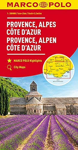 MARCO POLO Karte Provence, Alpes, Côte d\'Azur 1:200 000 (MARCO POLO Karten 1:200.000)
