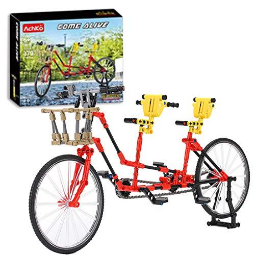 ReallyPow Technik Fahrrad Bausteine Modell, Tandem Fahrrad, Fahrrad Bauset Kompatible mit Lego Technic - 379 Teile