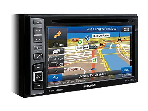 ALPINE INE-W611D Autoradio Multimedia Farbe schwarz, 2 DIN