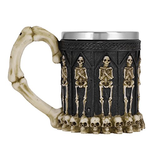 IBLUELOVER 3D Skull Mug Stainless Steel Beer Tankard Gothic Skeleton Cup Skeleton Wine Chalice Party Trick Cup Coffee Tea Water Drinking Cup for Party Bar Halloween Christmas Birthday Gift