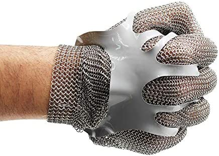 Chainmail Cut Resistant Stainless Steel Metal Mesh Glove for Food Handling Meat Processing Kitchen product image